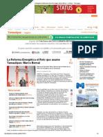 24-11-14 La Reforma Energética el Reto que asume Tamaulipas_ Marco Bernal - La Prensa - Tamaulipas