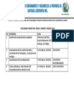 Programa Trimestral Enero, Febrero y Marzo 2015