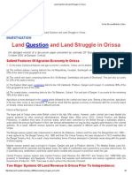 Land Question and Land Struggle in Orissa