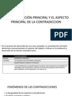 La Contradicción Principal y El Aspecto Principal de La Contradicción MAO TSE TUNG