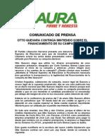 Comunicado Otto Guevara Continua Mintiendo