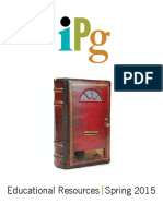 IPG Spring 2015 Educational Resources