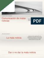 Comunicación de malas noticas en medicina