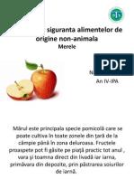 Calitatea Si Siguranta Alimentelor de Origine Non-Animala