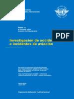 Anexo 13 Investigacion de Accidentes