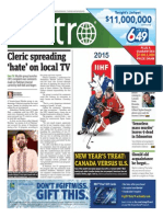 MetroToronto Dec 31 2014 Frontpage