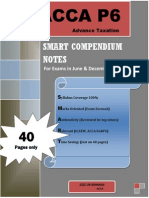 SMART Compendium Notes ACCA P6 (40 Pages) for Exams in 2014