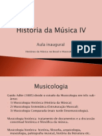História Da Música IV_aula Inaugural_2014