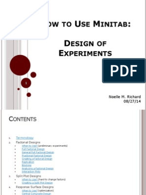 How_to_Use_Minitab_4_Design_of_Experiments pdf   Errors And