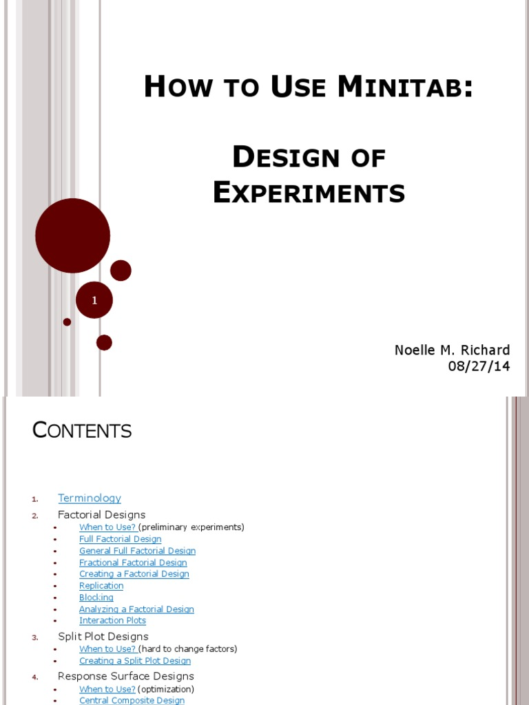 How_to_Use_Minitab_4_Design_of_Experiments pdf | Errors And