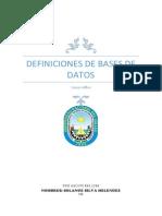Definición y Concepto de Base de Datos, Solange Silva Melendez
