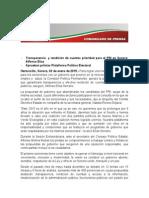 03-01-15 Aprueban priistas Plataforma Político Electoral