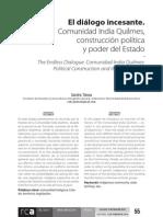 El diálogo incesante. Comunidad India Quilmes, construcción política y poder del estado