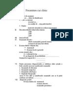 Schema Prezentare Caz Clinic