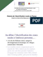 Histoire de l'Electrification Rurale en France...par René Massé