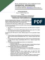 Penetapan Pelaksanaan Registrasi Administratif