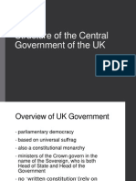 Structure of the Central Government of the UK
