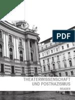 """Reader """"Theaterwissenschaft & Postnazismus"""" (bagru thewi)"""