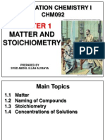 Matter and Stoichiometry Chm092 June 2014