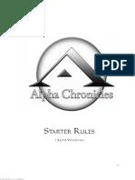 Alpha Chronicles - Starter Rules