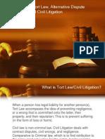 tort law civil litigation and adr