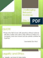 behavior workshop