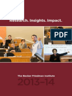 Becker Friedman Institute Annual Report 2013-14