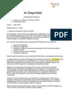 Notificacion de Seguridad 14-001 en EPP y Areas Restringidas - Copia Firmada - En Español