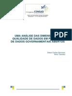 138 Uma Análise Das Dimensões Da Qualidade de Dados Em Projetos de Dados Governamentais Abertos