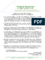 Palaung Statement on 47 PNRD 20100112