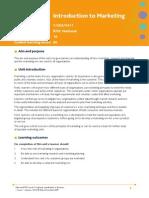 (Ok) Unit 3 Introduction to Marketing