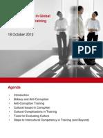 Cultural Influences in Anticorruption Training