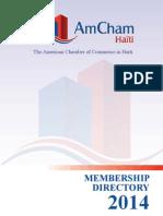 2014 AmCham Haiti Membership Directory