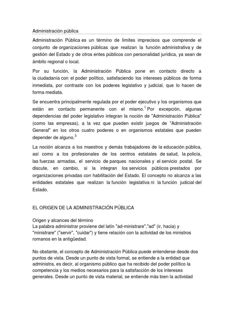 Administración Pública ( Importancia de La Administracion Publica) (1)