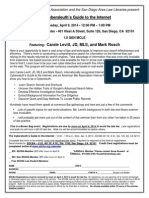 San Diego County Bar & San Diego Association of Law Libraries 2014 Cyberleuth MCLE Seminar Flyer
