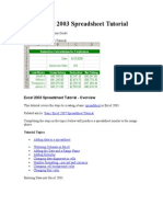 Basic Excel 2003 Spreadsheet Tutorial