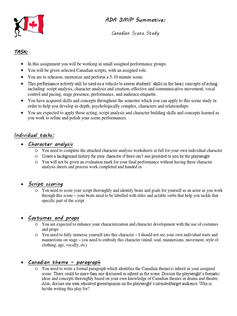 ADA 3MIP Summative:: Canadian Scene Study