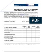 WOP Model of Recommendation Letter