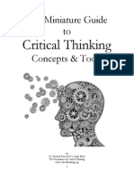 the miniature guide to critical thinking concepts  tools
