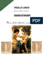 PASILLO LIRICO. Para violín y piano. Por Gerardo Betancourt