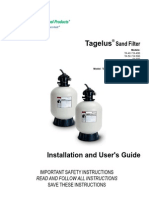 Tagelus Top Mount Pool Filter manual