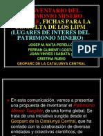 EL INVENTARIO DEL PATRIMONIO MINERO TANGIBLE.