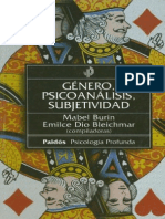 Género, Psicoanálisis, Subjetividad [Mabel Burin & Emilce Dio Bleichmar]
