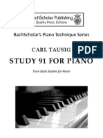 Carl Tausig - Study 91 for piano