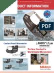 Coolant Proof Micrometer IP65 Manual