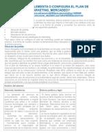 Cómo Se Implementa o Configura El Plan de Marketing_mercadeo