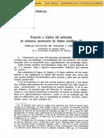 Funcion Y Limites Del Principio De Exclusiva Proteccion