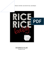 Rice, Rice Baby Business Plan
