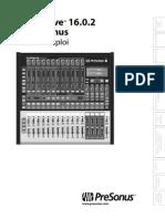 Presonus StudioLive1602 Manuel Fr