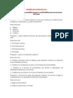 Examen de Docentes 2014